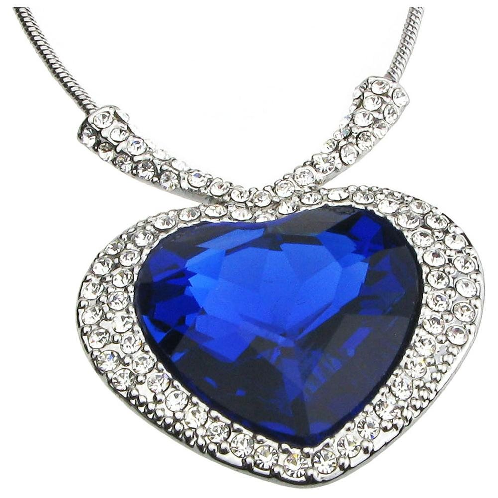 product jewelry womens girls pendant gifts necklace crystal platinum heart plated gold wholesale expensive