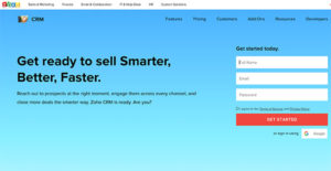 what is zoho crm used for