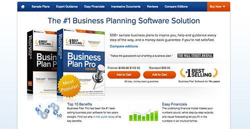 business plan pro sample plans
