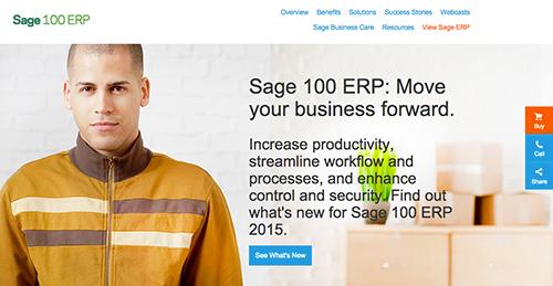 Logo of Sage 100 ERP