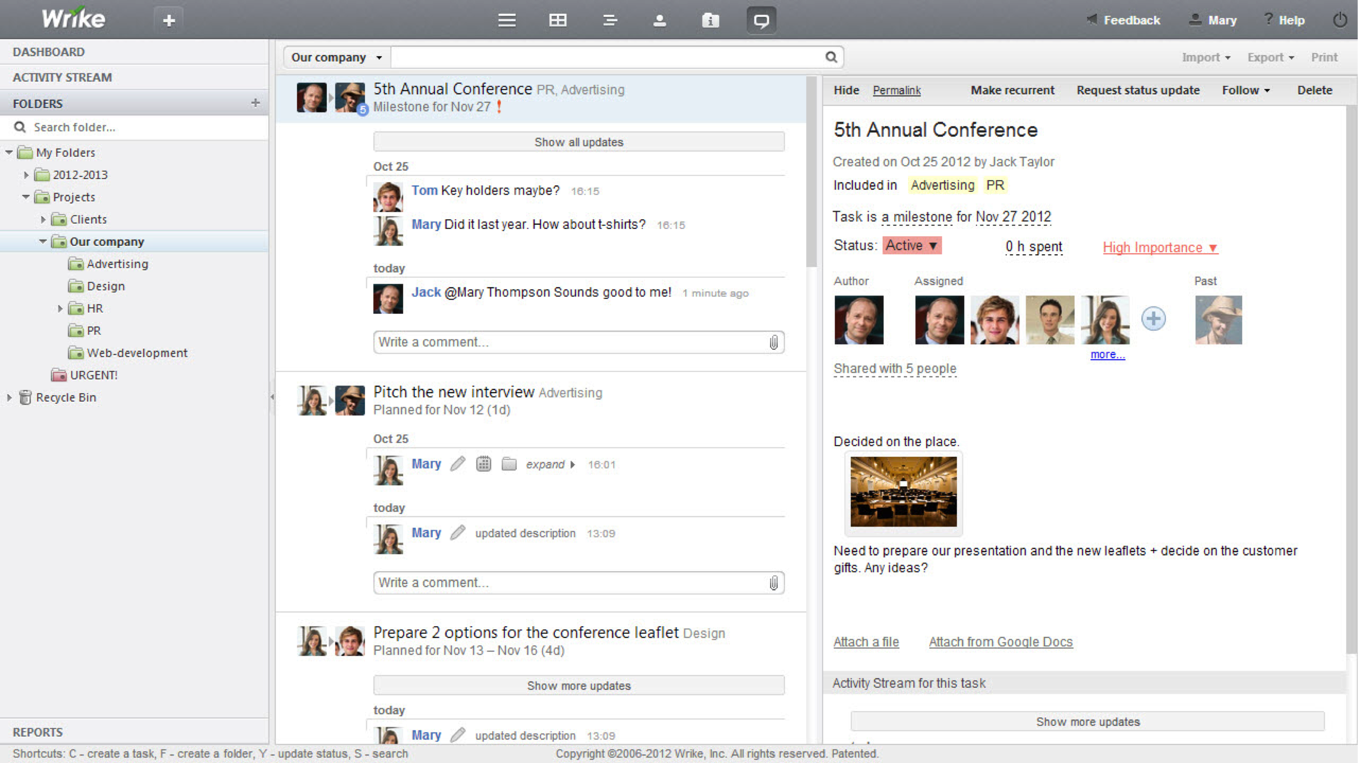 Wrike Screenshots: A Visual Guide To Project Management Features ...
