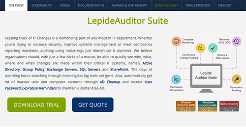 LepideAuditor Suite Reviews: Overview, Pricing and Features