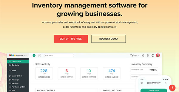 Zoho Inventory Reviews: Overview, Pricing and Features