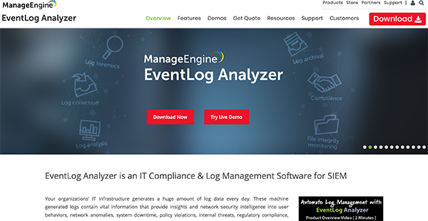 Eventlog Analyzer Reviews: Overview, Pricing and Features