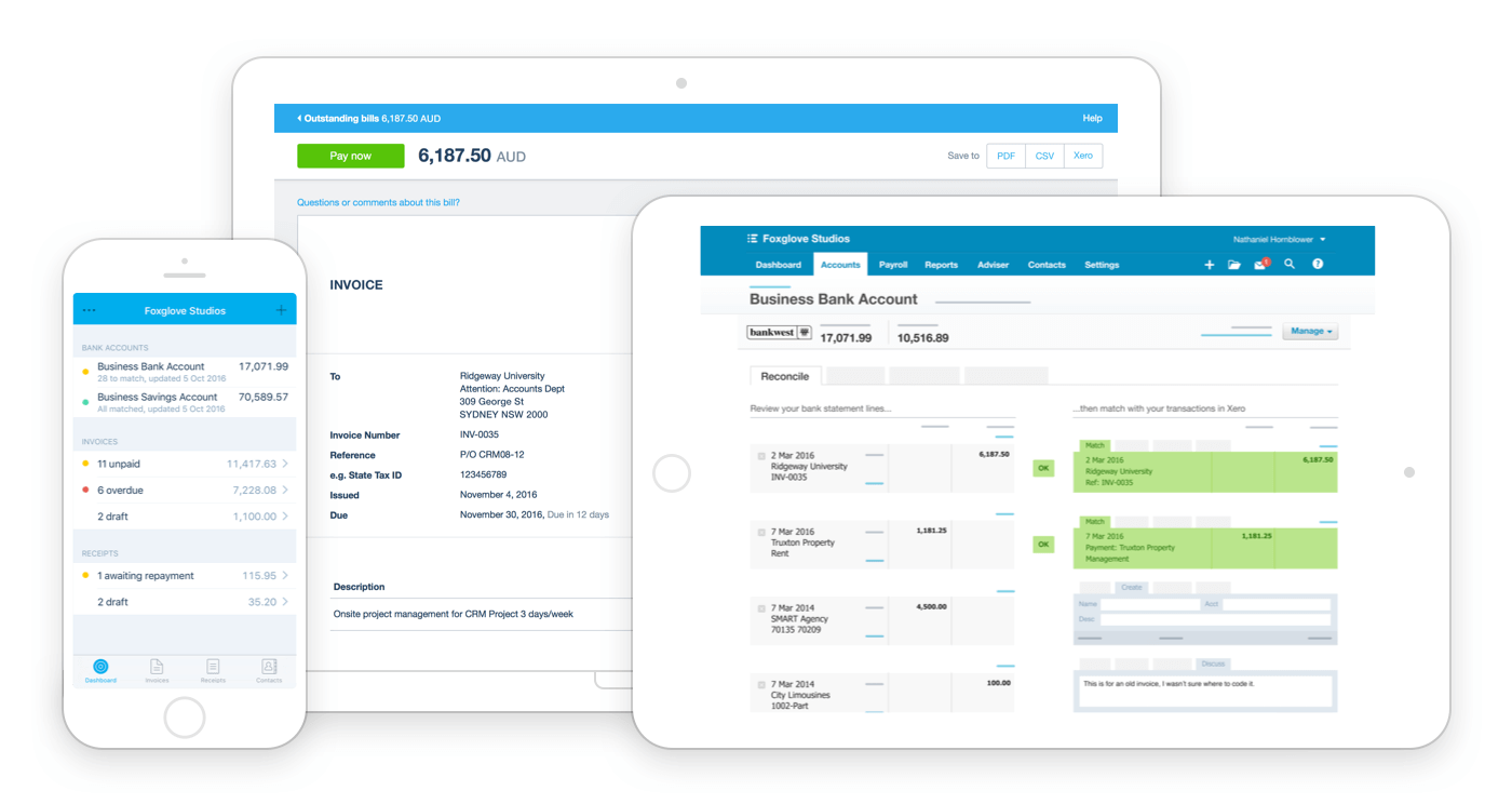 Top 3 Accounting Software Comparison Of Freshbooks Xero