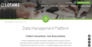 Logo of Lotame Data Management