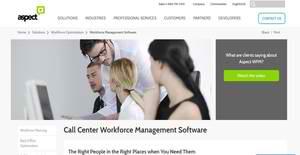 Logo of Aspect Workforce Management