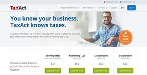Logo of TaxAct Business