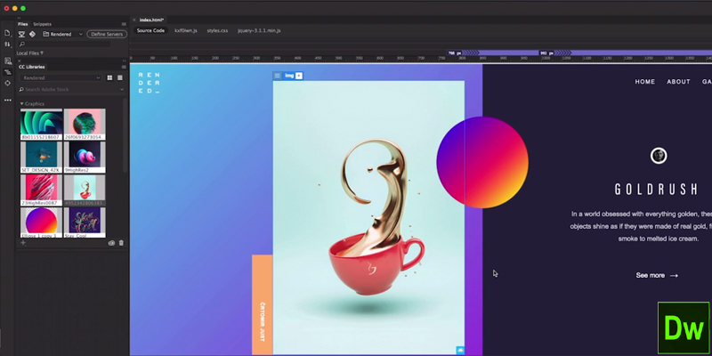 Exceptional A Complete Website And Mobile Content Visual Development Software, Adobe  Dreamweaver CC Is First On Our List Of Top 20 Graphic Design Software List.