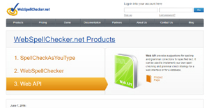 Logo of WebSpellChecker