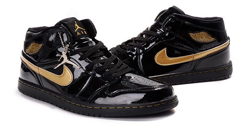 bb4f1448ab2968 This pair of Air Jordans was released in 2003 and was among the few editions  to be clad in leather. This patent leather gives the sneakers a glossy ...