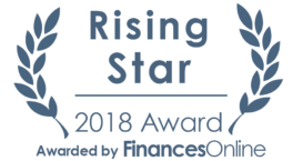 Finances Online Rising Star 2018 award for Kiva Logic