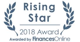 Finances Online Rising Star 2018 award for Kiva Logic