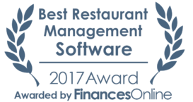 This award is given to the best product in our Restaurant Management Software category. It highlights its superior quality and underlines the fact that it's a leader on the market.