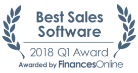 This award is given to the best product in our Sales Software category. It highlights its superior quality and underlines the fact that it's a leader on the market.