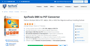 SysTools DBX to PST Converter Reviews: Overview, Pricing and Features