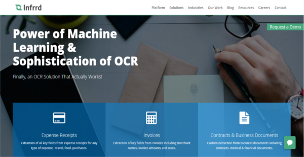 Infrrd OCR Reviews: Overview, Pricing and Features