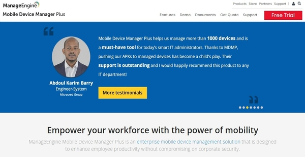 ManageEngine Mobile Device Manager Plus Reviews: Overview, Pricing and  Features