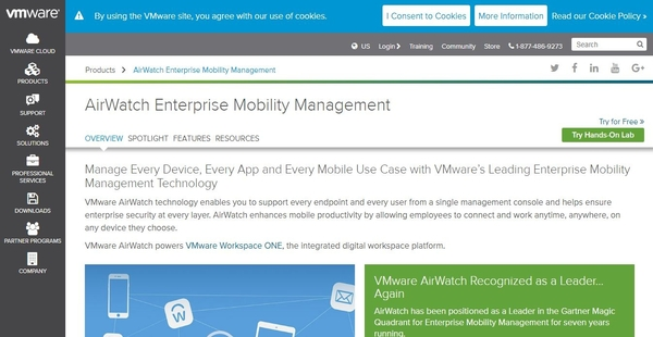 VMware AirWatch Reviews: Overview, Pricing and Features