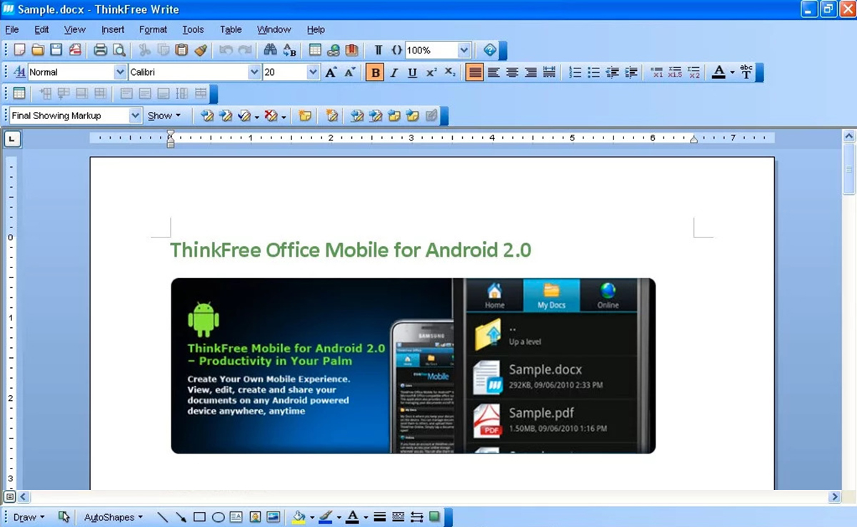 20 best office software solutions in 2018 financesonline thinkfree office is a proprietary office suite that supports windows linux mac os and android written in java thinkfree office includes write word fandeluxe Gallery