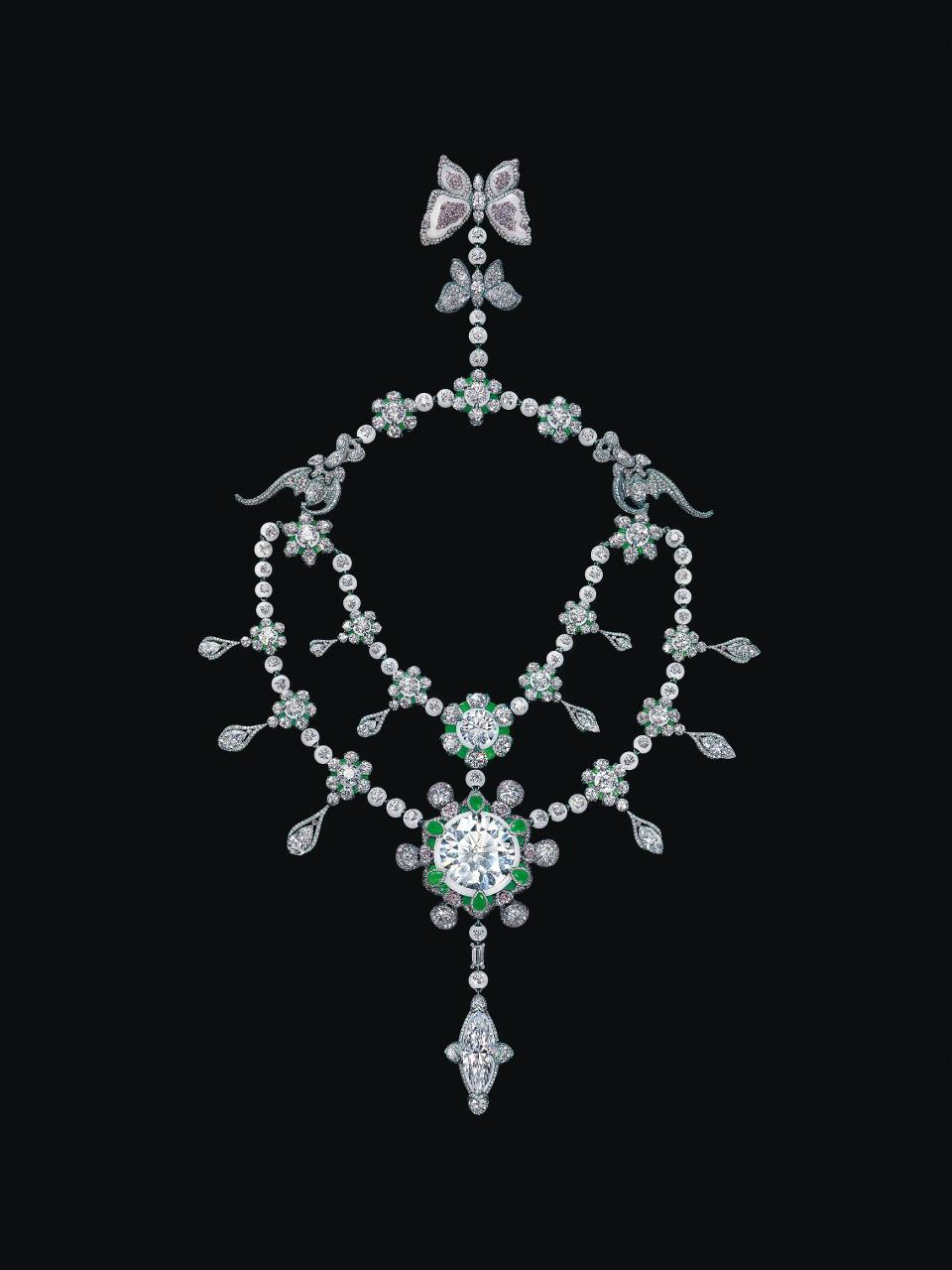 "bce85ba2a Chinese master craftsman Wallace Chan has designed this jewelry masterpiece  named ""A Heritage in Bloom"" which is estimated to be worth a sky-high  200  ..."