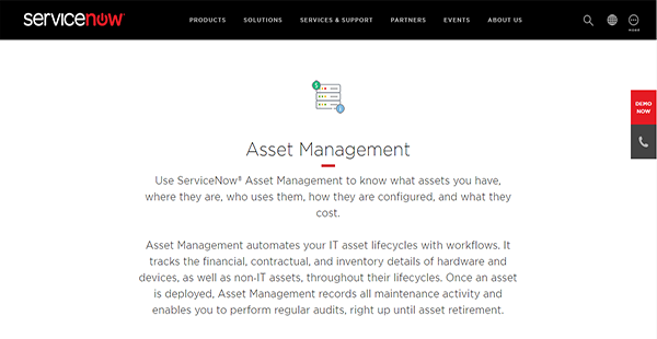ServiceNow Asset Management Reviews: Overview, Pricing and
