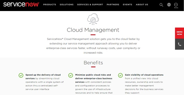 ServiceNow Cloud Management Reviews: Overview, Pricing and