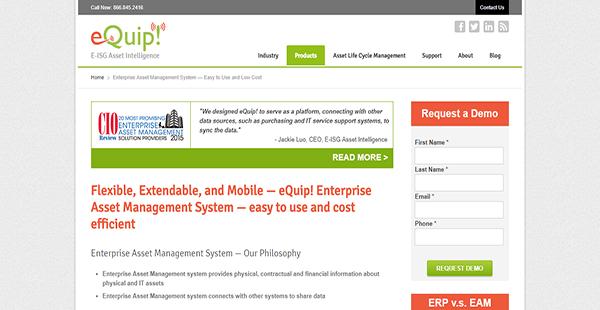 eQuip! Enterprise Asset Management System Reviews: Overview