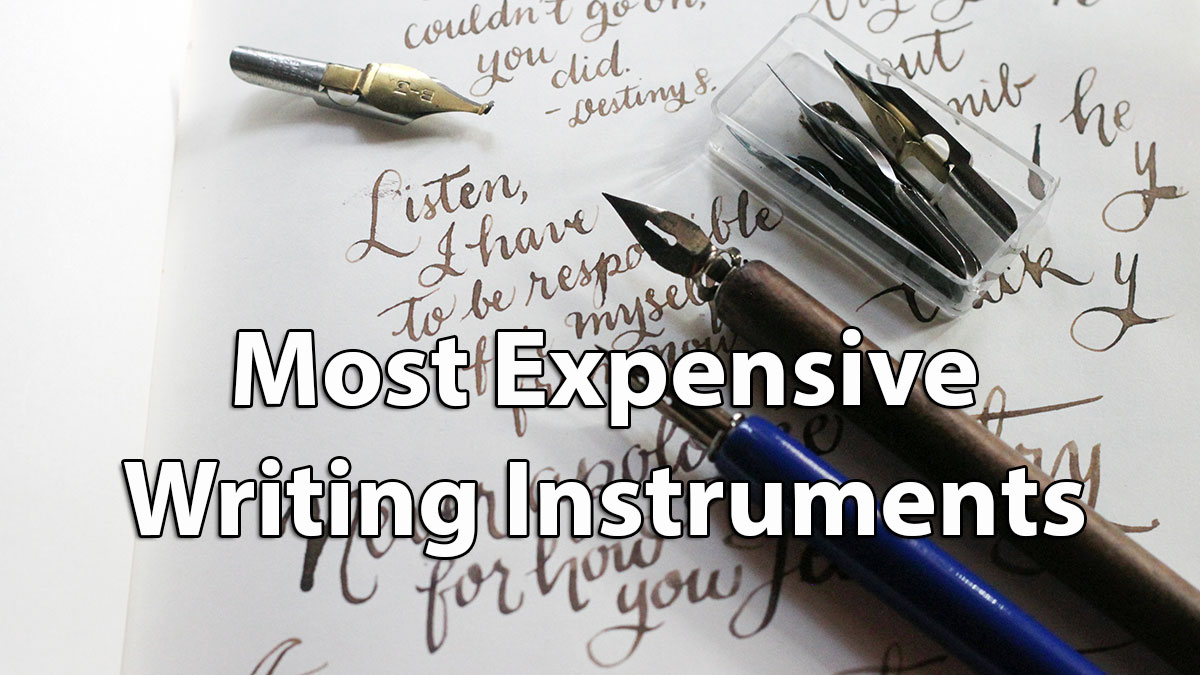 10 Most Expensive Writing Instruments In The World Pen Each Includes 1 Ball Point And Fountain As Diagram