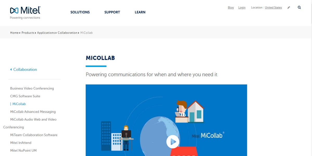 b28b3f3f59480 MiCollab is a collaboration application with unified communications tools.  Available for all mobile and desktop devices