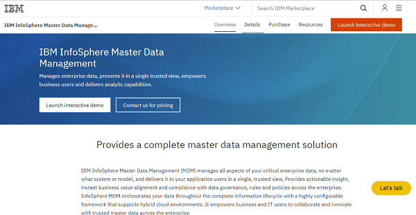 InfoSphere MDM Reviews: Overview, Pricing and Features