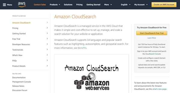 Amazon CloudSearch Reviews: Overview, Pricing and Features