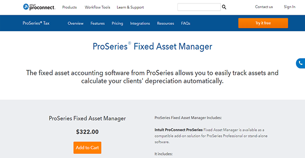 ProSeries Fixed Asset Manager Reviews: Overview, Pricing, Features