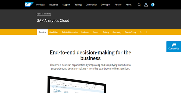 SAP Analytics Cloud Reviews: Overview, Pricing, Features