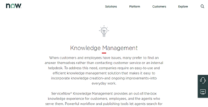 Logo of ServiceNow Knowledge Management