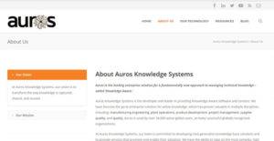 Logo of Auros Knowledge Systems