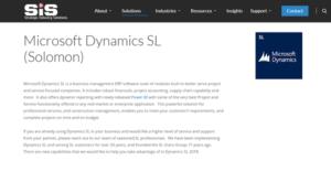 Logo of Microsoft Dynamics SL