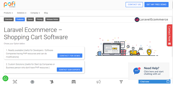 Laravel Ecommerce Reviews: Overview, Pricing and Features