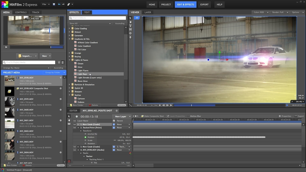 Top 10 alternatives to adobe premiere analysis of top video editing hitfilm express is an all in one video editing and visual effects application brimming with professional tools and features ccuart Images