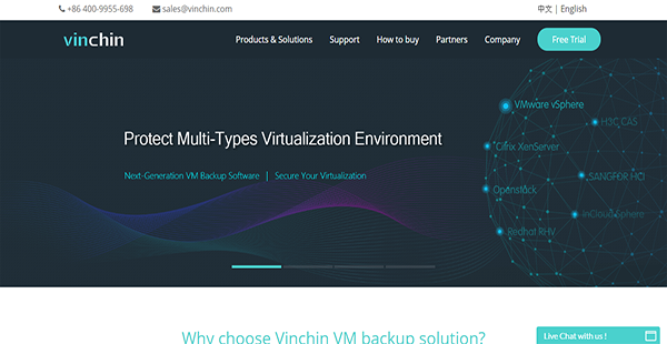 Vinchin Backup & Recovery Reviews: Overview, Pricing, Features