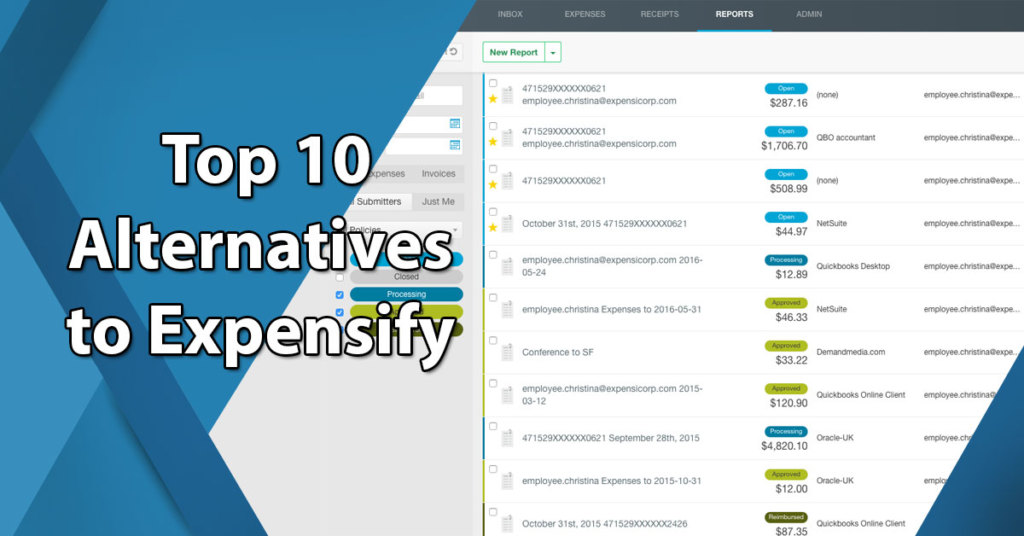Top 10 Alternatives to Expensify: List of Leading Expense