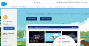 Logo of Salesforce Community Cloud