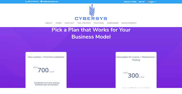 Cybersys POS Reviews: Overview, Pricing and Features