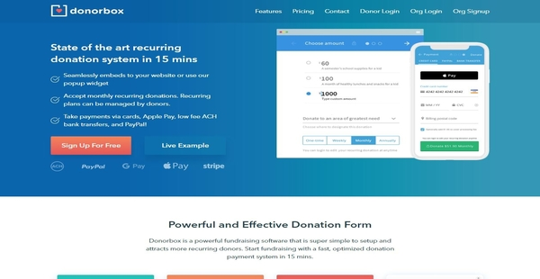 Donorbox Reviews: Overview, Pricing and Features