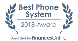 This award is given to the best product in our phone systems category. It highlights its superior quality and underlines the fact that it's a leader on the market.