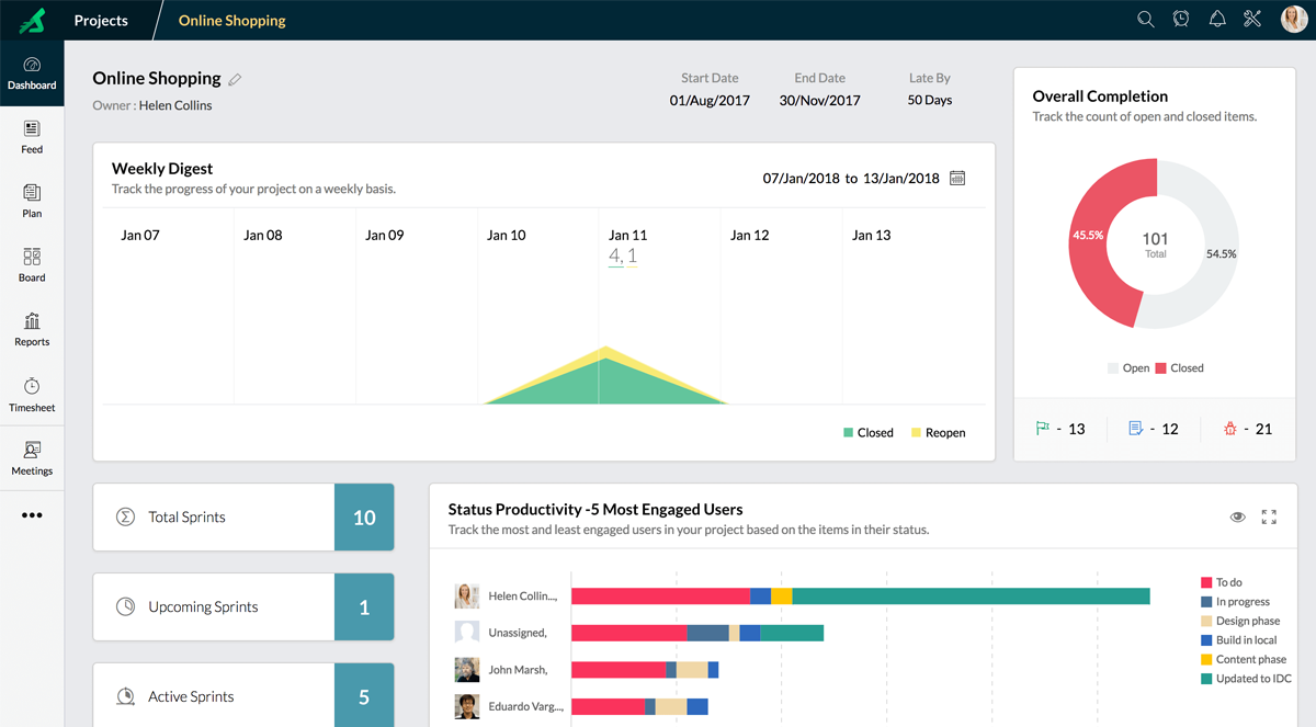 20 Best Online Project Management Tools For Developers