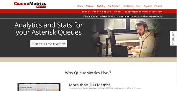 QueueMetrics-Live Reviews: Overview, Pricing and Features