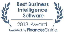 This award is given to the best product in our business intelligence software category. It highlights its superior quality and underlines the fact that it's a leader on the market.