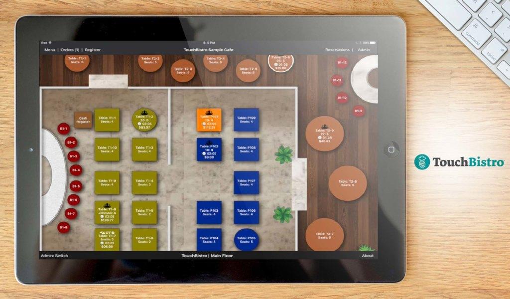 TouchBistro dashboard