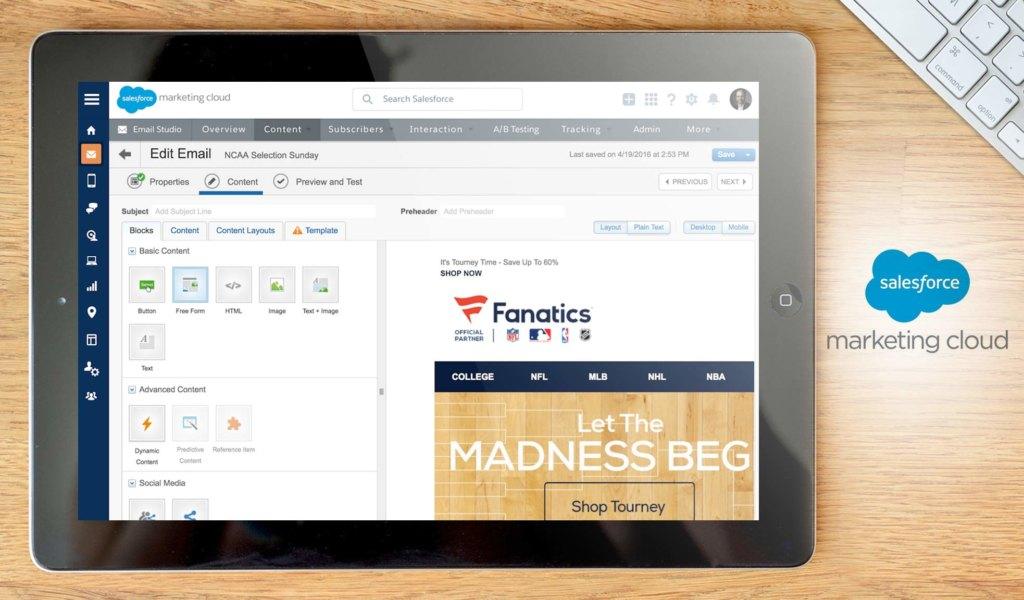 salesforce marketing cloud dashboard example